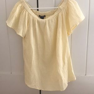 Cute blousy yellow top by Chelsea and Theodore